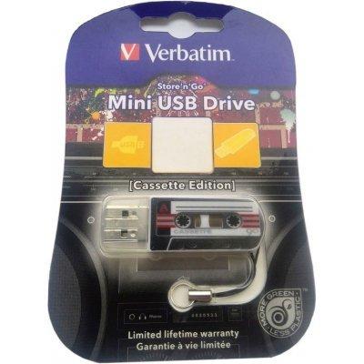 USB накопитель Verbatim 32Gb Mini Cassette Edition черный/рисунок (49391), арт: 260197 -  USB накопители Verbatim