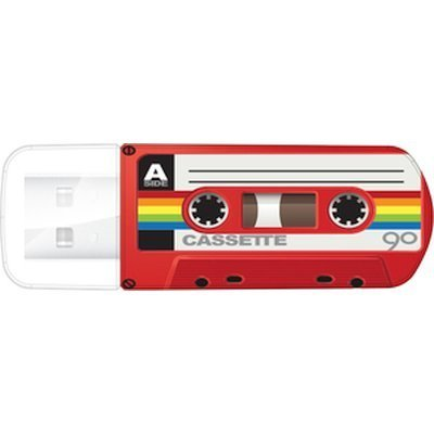 USB накопитель Verbatim 32Gb Mini Cassette Edition красный/рисунок (49392), арт: 260198 -  USB накопители Verbatim
