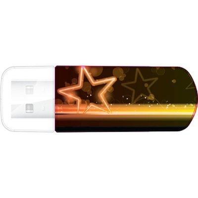 USB накопитель Verbatim 32Gb Mini Neon Edition оранжевый/рисунок (49388), арт: 260201 -  USB накопители Verbatim