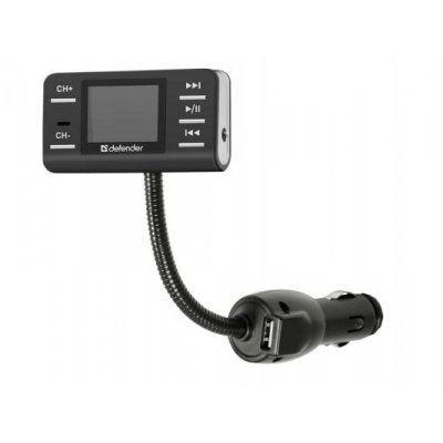 Трансмиттер FM Defender RT-PRO (83551)Трансмиттеры FM Defender<br>FM-трансмиттер DEFENDER RT-PRO Пульт ДУ, USB для зарядки<br>