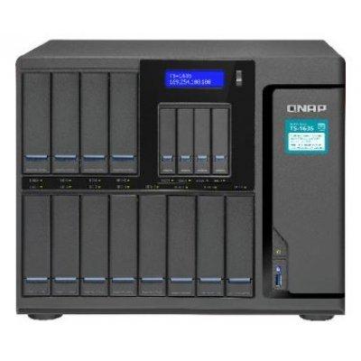 Сетевой накопитель NAS Qnap TS-1635-8G (TS-1635-8G)Сетевые накопители NAS Qnap<br>Сетевой накопитель TS-1635-8G Сетевой RAID-накопитель, 12 отсеков 3,5/2,5, 4 отсека 2,5, два порт<br>