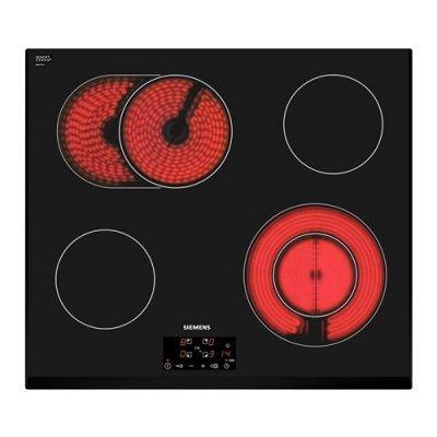 Электрическая варочная панель Siemens ET651BN17R (ET651BN17R)Электрические варочные панели Siemens<br>электрическая варочная панель<br>стеклокерамическая поверхность<br>керамические конфорки<br>двухконтурная конфорка<br>конфорка с овальной зоной нагрева<br>переключатели сенсорные<br>защита от детей<br>индикатор остаточного тепла<br>независимая установка<br>габариты (ШхГ) 59.2x52.2 см<br>