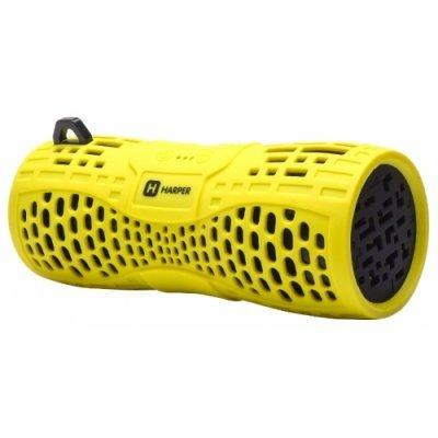 Портативная акустика HARPER PS-045 желтый (H00001020)Портативная акустика HARPER<br>Беспроводная BT-Колонка HARPER PS-045 yellow (Bluetooth/Влагозащита IPX6/до 7 часов/2x3 Вт/микрофон)<br>