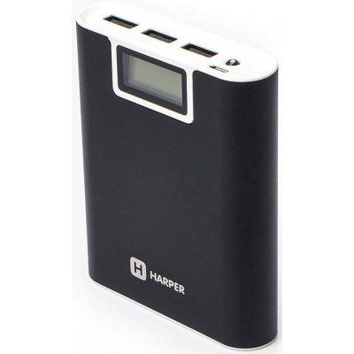 Внешний аккумулятор для портативных устройств HARPER PB-2010 черный (H00001057)Внешние аккумуляторы для портативных устройств HARPER<br>Внешний аккумулятор HARPER PB-2010 black (10000mAh/Li-Ion/Выход 3 USB: 5V/2,1A/ LED фонарик/LED инди<br>