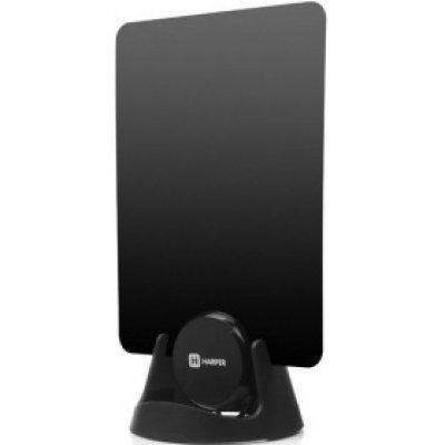 Антенна телевизионная HARPER ADVB-1209 (H00000512)Антенны телевизионные HARPER<br>Телевизионная антенна HARPER ADVB-1209 (комнатная, активная; DVB-T2; UHF (470-862 MHz); 20 dB; 75 ;<br>
