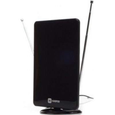Антенна телевизионная HARPER ADVB-2820 (H00001154)Антенны телевизионные HARPER<br>Телевизионная антенна HARPER ADVB-2820 (комнатная, активная;DVB-T2; VHF / UHF (174–230 MHz, 470-862<br>