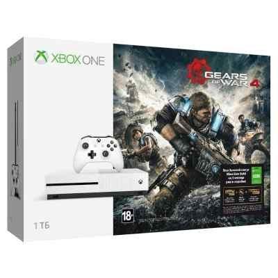 Игровая консоль Microsoft Xbox One S 1 TB + игра God of War 4 + подписка 3 месяца Xbox Live (234-00013-1)Игровые консоли Microsoft<br>Xbox One S 1 TB + GoW4 + 3M Live<br>