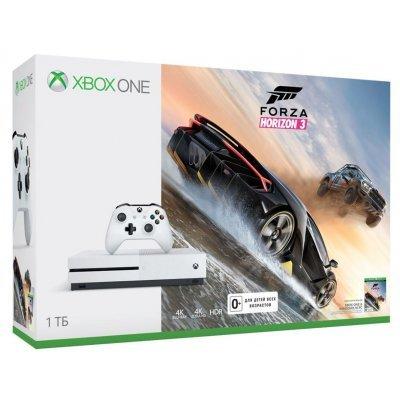 Игровая консоль Microsoft Xbox One S 1 TB + Forza Horizon 3 (234-00115-1) игровая консоль microsoft xbox one s 500 gb forza horizon 3 dlc
