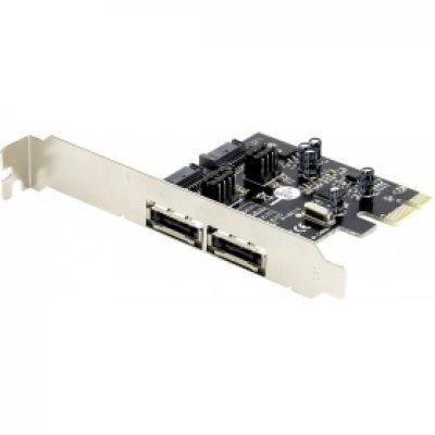 Контроллер SATA Orient A1061S (29639)Контроллеры SATA Orient<br>Контроллер Orient A1061S (PCI-E v.2.0, SATA 3, 2 ext/2 in Port, Asmedia ASM1061, кабель SATA) Ret<br>