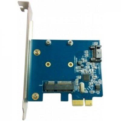 Контроллер SATA Orient A1061S-MS (30288) контроллер orient a1061s ms pci e v2 0 sata 3 0 6 gb s 2int port msata sata поддержка hdd до 6tb asm1061 chipset oem