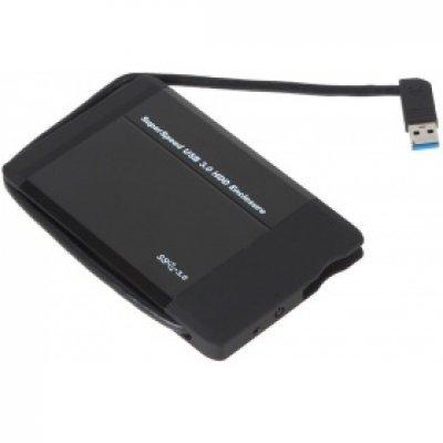 Корпус для жесткого диска Orient 2565U3 (30211)Корпуса для жестких дисков Orient<br>Мобил рек USB3.0 Orient 2565 U3, для 2.5 HDD SATA, встроенный кабель<br>