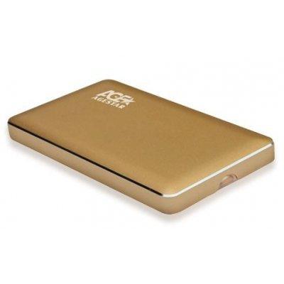 Корпус для жесткого диска Agestar 3UB2A16C золотистый (3UB2A16C)