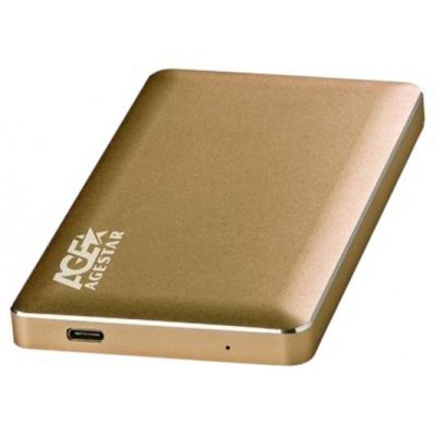 Корпус для жесткого диска Agestar 31UB2A16C золотистый (31UB2A16C)Корпуса для жестких дисков Agestar<br>Внешний корпус для HDD AgeStar 31UB2A16C SATA алюминий золотистый 2.5<br>