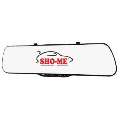 Видеорегистратор Sho-Me SFHD 400 (SFHD 400)Видеорегистраторы Sho-Me<br>видеорегистратор в виде зеркала<br>запись видео 1920x1080 при 25 к/с<br>угол обзора 120°<br>с экраном 4.3 480x240<br>датчик удара (G-сенсор)<br>работа от аккумулятора<br>видеовыход для подключения к телевизору<br>поддержка карт памяти microSD (microSDHC)<br>встроенный микрофон<br>подключение внешних камер<br>