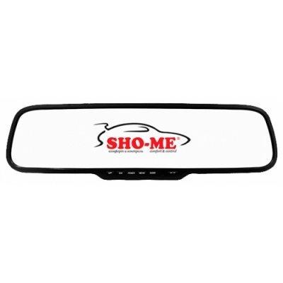 Видеорегистратор Sho-Me SFHD 300 (SFHD 300)Видеорегистраторы Sho-Me<br>видеорегистратор в виде зеркала<br>запись видео 1920x1080 при 30 к/с<br>угол обзора 140°<br>с экраном 2.7 480x240<br>датчик удара (G-сенсор)<br>работа от аккумулятора<br>видеовыход для подключения к телевизору<br>поддержка карт памяти microSD (microSDHC)<br>встроенный микрофон<br>