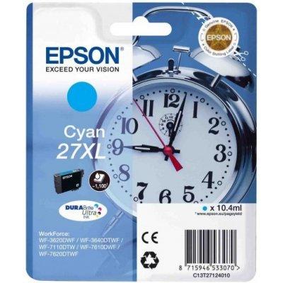 Картридж для струйных аппаратов Epson C13T27124020 голубой для WF7110/7610/7620 (1100стр.) (C13T27124020) procolor continuous ink supply system ciss europe area 27 t2701 for epson wf 7110 wf7110 wf 7110 7110dtw wf 7110dtw wf7110dtw