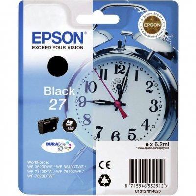 Картридж для струйных аппаратов Epson C13T27014020 черный для WF7110/7610/7620 (350стр.) (C13T27014020) procolor continuous ink supply system ciss europe area 27 t2701 for epson wf 7110 wf7110 wf 7110 7110dtw wf 7110dtw wf7110dtw