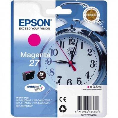 Картридж для струйных аппаратов Epson C13T27034020 пурпурный для WF7110/7610/7620 (350стр.) (C13T27034020) procolor continuous ink supply system ciss europe area 27 t2701 for epson wf 7110 wf7110 wf 7110 7110dtw wf 7110dtw wf7110dtw