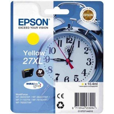 Картридж для струйных аппаратов Epson C13T27144020 желтый для WF7110/7610/7620 (1100стр.) (C13T27144020)Картриджи для струйных аппаратов Epson<br>Картридж струйный Epson C13T27144020 желтый для Epson WF7110/7610/7620 (1100стр.)<br>