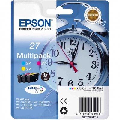 Картридж для струйных аппаратов Epson C13T27054020 пурпурный/голубой/желтый набор карт. для WF7110/7610/7620 (C13T27054020)Картриджи для струйных аппаратов Epson<br>Картридж струйный Epson C13T27054020 пурпурный/голубой/желтый набор карт. для Epson WF7110/7610/7620<br>