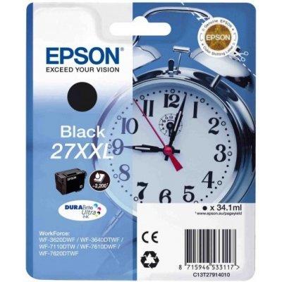 Картридж для струйных аппаратов Epson C13T27914020 черный для WF7110/7610/7620 (2200стр.) (C13T27914020)Картриджи для струйных аппаратов Epson<br>Картридж струйный Epson C13T27914020 черный для Epson WF7110/7610/7620 (2200стр.)<br>