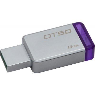 USB накопитель Kingston DT50/8GB серебристый (DT50/8GB)