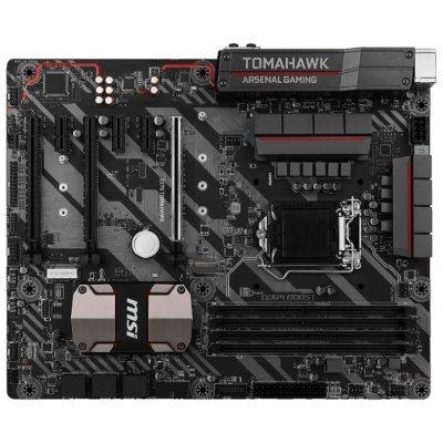 Материнская плата ПК MSI Z270 TOMAHAWK (Z270 TOMAHAWK)Материнские платы ПК MSI<br>материнская плата форм-фактора ATX<br>сокет LGA1151<br>чипсет Intel Z270<br>4 слота DDR4 DIMM, 2133-3800 МГц<br>поддержка CrossFire<br>разъемы SATA: 6 Гбит/с - 6<br>