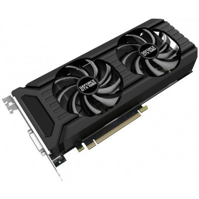 Видеокарта ПК Palit PCI-E PA-GTX1080 Dual OC 8G nVidia GeForce GTX 1080 8192Mb 256bit GDDR5X 1620/10000 DVIx1/HDMIx1/DPx3/HDCP Ret (NEB1080U15P2-1045D) видеокарта 6144mb msi geforce gtx 1060 gaming x 6g pci e 192bit gddr5 dvi hdmi dp hdcp retail