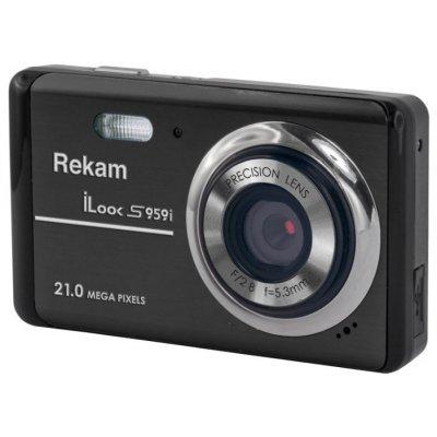 Цифровая фотокамера Rekam iLook S959i темно-серый (1108005132) rekam ilook s955i black цифровая фотокамера