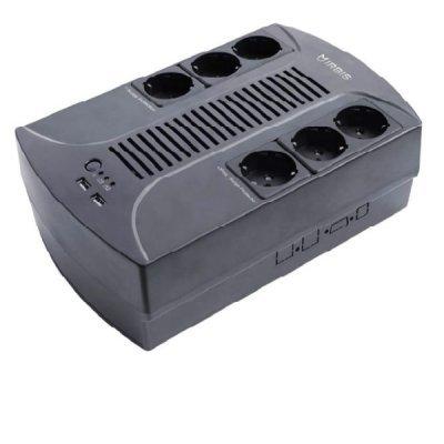 Источник бесперебойного питания Irbis Personal plus 800VA (ISBR800E) (ISBR800E)Источники бесперебойного питания Irbis <br>IRBIS UPS Personal plus 800VA/480W, Line-Interactive, AVR, 6xSchuko outlets(3 Surge &amp;amp; 3 batt.), 2 USB charger, 2 year warranty<br>