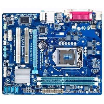 Материнская плата ПК Gigabyte GA-H61M-S2PV V2.2 (GA-H61M-S2PVV2.2)Материнские платы ПК Gigabyte<br>материнская плата форм-фактора microATX<br>сокет LGA1155<br>чипсет Intel H61<br>2 слота DDR3 DIMM, 800-1333 МГц<br>разъемы SATA: 3 Гбит/с - 4<br>