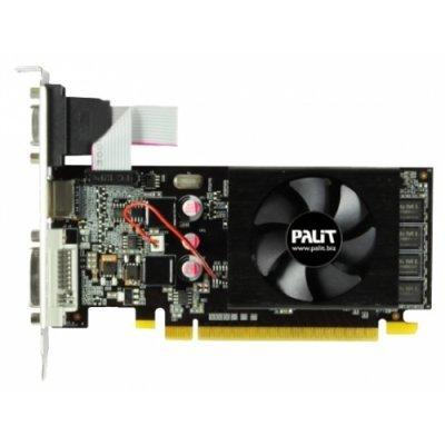 Видеокарта ПК Palit NVIDIA GeForce GT 610, 2Gb GDDR3/64-bit, PCI-Ex16 3.0, DVI, HDMI, VGA, 1-slot cooler, Retail, PA-GT610-2GD3 (NEAT6100HD46-1196F)Видеокарты ПК Palit<br>VGA PALIT NVIDIA GeForce GT 610, 2Gb GDDR3/64-bit, PCI-Ex16 3.0,  DVI, HDMI, VGA, 1-slot cooler, Retail, PA-GT610-2GD3<br>