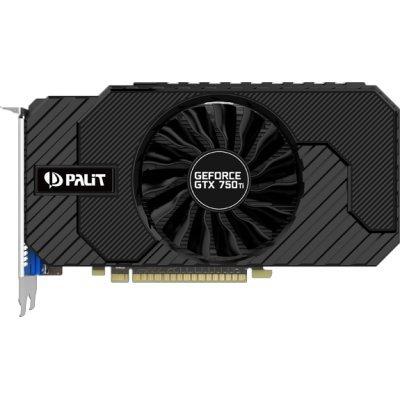 Видеокарта ПК Palit NVIDIA GeForce GTX 750ti STORMX OC, 2Gb GDDR5/128-bit, PCI-Ex16 3.0, DVI, HDMI, VGA, 2-slot cooler, Retail, PA-GTX750Ti StormX OC 2G (NE5X75TSHD41-1077F)Видеокарты ПК Palit<br>VGA PALIT NVIDIA GeForce GTX 750ti STORMX OC, 2Gb GDDR5/128-bit, PCI-Ex16 3.0,  DVI, HDMI, VGA, 2-slot cooler, Retail, PA-GTX750Ti StormX OC 2G<br>