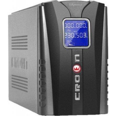 Источник бесперебойного питания Crown CMU-1200 IEC LCD (CMU-1200 IEC LCD)Источники бесперебойного питания Crown<br>ИБП CROWN 1200VA/720W, металл, 2*12V/9AH, розетки 4*IEC  +1*IEC bybass, трансформатор AVR 145-280V, LCD дисплей, защита батареи, от перегрузки, от КЗ<br>