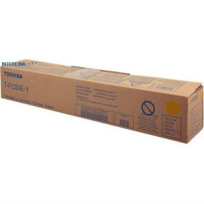 Тонер-картридж для лазерных аппаратов Toshiba ES2555CSE/3055CSE/3555CSE/4555CSE/5055CSE T-FC50EY желтый (6AJ00000111) toshiba t fc50ey
