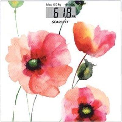 Весы Scarlett SC-BS33E084 белый/рисунок (SC - BS33E084)Весы Scarlett<br>Весы напольные электронные Scarlett SC-BS33E084 макс.150кг белый/рисунок<br>