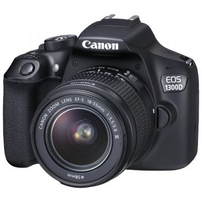 Цифровая фотокамера Canon EOS 1300D Kit Black 18-55 DC III (1160C009) фотоаппарат canon eos 1300d body