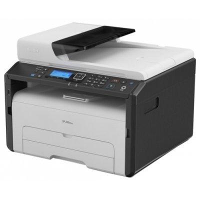 Монохромный лазерный МФУ Ricoh SP 220SNw (408029)Монохромные лазерные МФУ Ricoh<br>МФУ (принтер, сканер, копир)<br>для небольшого офиса<br>ч/б лазерная печать<br>до 23 стр/мин<br>макс. формат печати A4 (210 x 297 мм)<br>ЖК-панель<br>Wi-Fi, Ethernet<br>