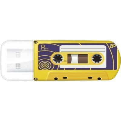 USB накопитель Verbatim 16Gb Mini Cassette Edition желтый/рисунок (49399), арт: 261674 -  USB накопители Verbatim