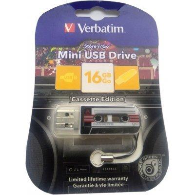 USB накопитель Verbatim 16Gb Mini Cassette Edition черный/рисунок (49397), арт: 261675 -  USB накопители Verbatim