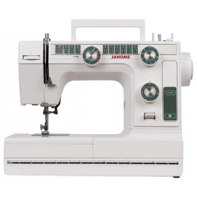 Швейная машина Janome L-394 белый (L-394)Швейные машины Janome<br>швейная машина<br>электромеханическое управление<br>вертикальный челнок<br>количество операций: 23<br>регулировка давления лапки на ткань<br>полуавтоматическая обработка петли<br>обметочная строчка, потайная строчка, эластичная строчка, эластичная потайная строчка<br>макси-узоры<br>рукавная платформа<br>