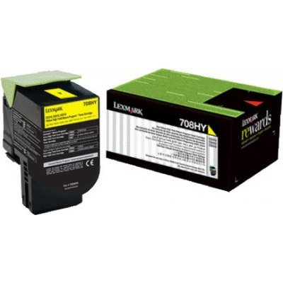 Тонер-картридж для лазерных аппаратов Lexmark CS510de, CS510dte (Yellow Extra High Yield Corporate Cartridge (4k) (70C8XYE) тонер картридж для лазерных аппаратов lexmark cs510de cs510dte black extra high yield corporate cartridge 8k 70c8xke