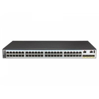 Коммутатор Huawei S5720S-52X-SI-AC (02350DLR)Коммутаторы Huawei<br>Коммутатор 48PORT GE 4SFP+ S5720S-52X-SI-AC HUAWEI Коммутатор Huawei S5720S-52X-SI-AC (48xGE RJ45 ports, 4x10GE SFP+ ports; F/S: 132Ms/336Gbs; MAC: 16k; Управление: L3, Full; Static Route; OSPF/BGP/IS-IS; RSTP/MSTP/ERPS, OAM, RRPP/SEP/Smart Link; sFlow, QoS, ACL; IPv6; iStack, SVF; PSU: AC) [02350DL ...<br>