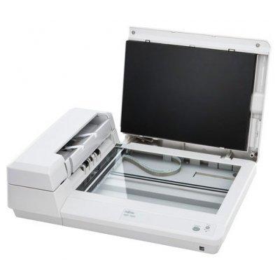 Сканер Fujitsu ScanPartner SP1425 (PA03753-B001)Сканеры Fujitsu<br>Дуплексный протяжный документный сканер формата A4 с планшетом, скорость 25 стр./мин - 50 изобр/.мин. (300 dpi), автоподатчик на 50 листов, суточная нагрузка 1500 стр., Ультразвуковой детектор подачи нескольких листов, интерфейс USB 2.0, вес 4,3 кг<br>