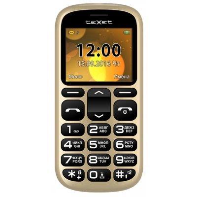 Мобильный телефон Texet TM-B306 золотистый (Мобильный телефон teXet TM-B306 кзолотой)
