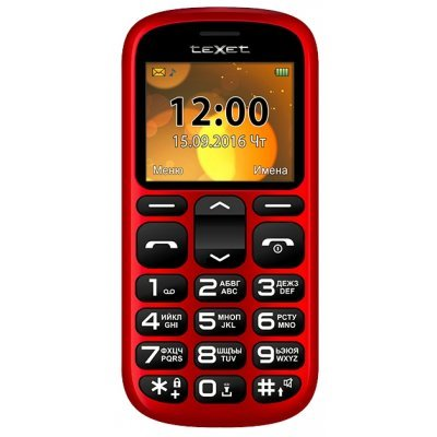 Мобильный телефон Texet TM-B306 красный (Мобильный телефон teXet TM-B306 красный)
