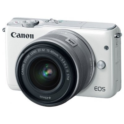Цифровая фотокамера Canon EOS M10 15-45IS STM White (0922C012) фотоаппарат canon eos m10 kit 15 45 is stm white