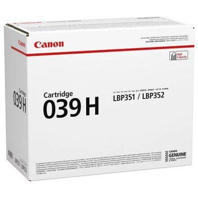 Тонер-картридж для лазерных аппаратов Canon 039 H для принтеров i-SENSYS LBP351x/352x. Чёрный. 25 000 страниц. (0288C001) картридж t2 для hp tc h85a laserjet p1102 1102w pro m1132 m1212nf m1214nfh canon i sensys lbp6000 cartrige 725 1600 стр с чипом
