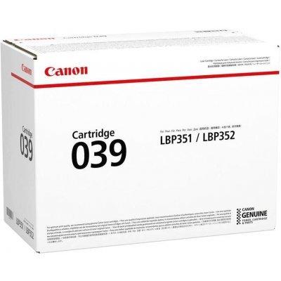 Тонер-картридж для лазерных аппаратов Canon 039 для принтеров i-SENSYS LBP351x/352x. Чёрный. 11 000 страниц. (0287C001)Тонер-картриджи для лазерных аппаратов Canon<br>Картридж Canon 039 для принтеров i-SENSYS LBP351x/352x. Чёрный. 11 000 страниц.<br>