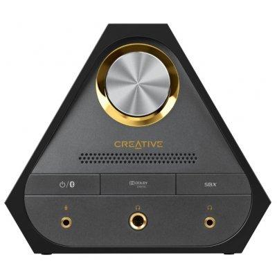 Звуковая карта внешняя Creative Sound Blaster X7 (70SB158000000)Звуковые карты внешние Creative<br>внешняя звуковая карта<br>интерфейс USB 2.0<br>вывод многоканального звука<br>аналоговые аудиовыходы: 6<br>ASIO v. 2.0<br>ЦАП 24 бит / 192 кГц<br>